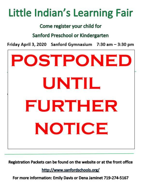 Little Indian's Learning Fair Postponed